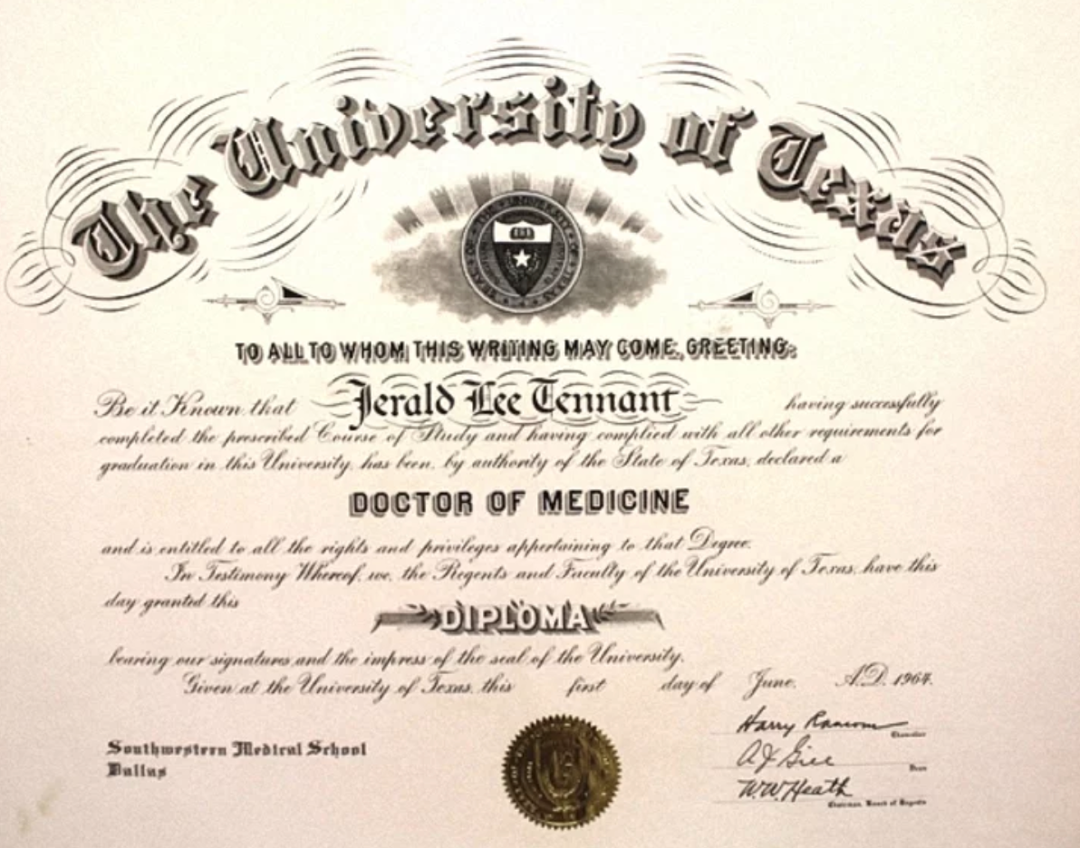 Dr.JerryTennant1964 – MD DEGREE